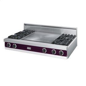 "Plum 48"" Open Burner Rangetop - VGRT (48"" wide, four burners 24"" wide griddle/simmer plate)"
