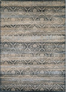 0466/0440 All Over Diamond / Black-Light Blue-Oatmeal Area Rugs