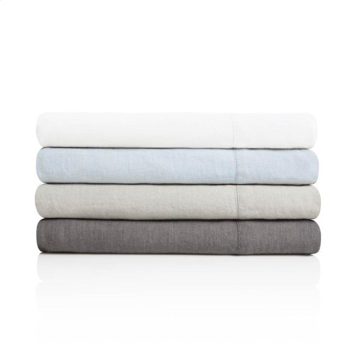 French Linen - King Pillowcase Smoke