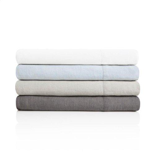 French Linen - Queen Pillowcase Charcoal