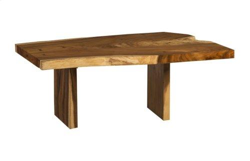 Live Edge Dining Table, Chamcha Wood Freeform, Wood Legs