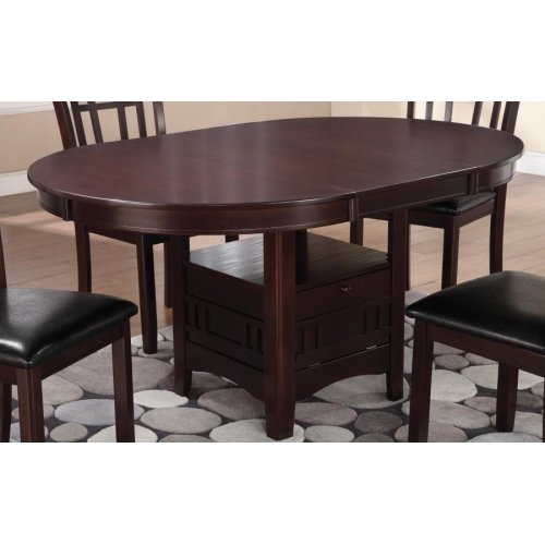 Lavon Transitional Warm Brown Dining Table