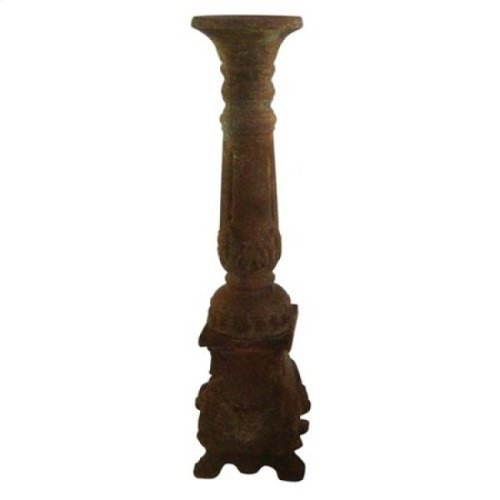 Large Brown Candle Holder