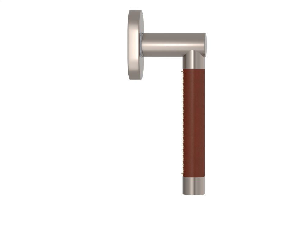 Barrel Stitch In Recess Leather In Chestnut And Satin Nickel
