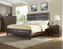 "Timber King Storage Bed Footboard, Brown,82""x20""x20"""