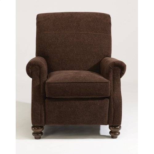 Bay Bridge Leather Power High-Leg Recliner without Nailhead Trim