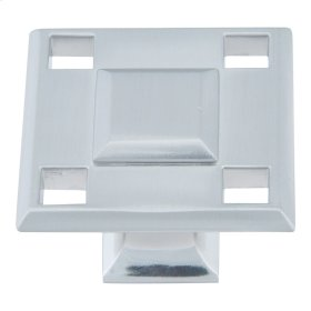 Modern Craftsman Square Knob 1 5/16 Inch - Brushed Nickel