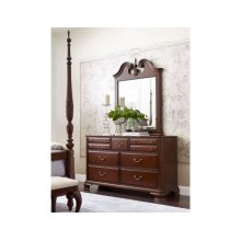 Vertical Pediment Mirror