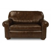 Preston Leather Twin Sleeper with Nailhead Trim Product Image