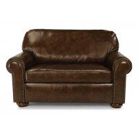Preston Leather Twin Sleeper with Nailhead Trim Product Image