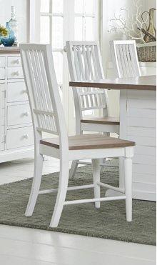 Dining Chair (2/Carton) - Light Oak/Distressed White Finish