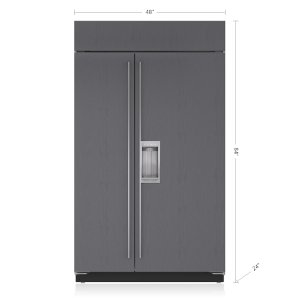 "Sub-Zero48"" Classic Side-by-Side Refrigerator/Freezer with Dispenser - Panel Ready"