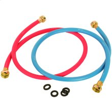 Red/Blue EDPM Rubber Washing Machine Hoses, 2 pk (4ft)