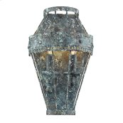 Ferris 1 Light Wall Sconce in Blue Verde Patina