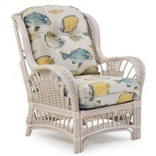 Rattan High Back Chair Whitewash 4405