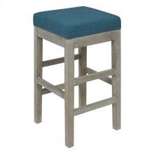Valencia Backless Counter Stool Mystique Gray Legs, Aegean