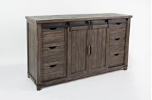 "Madison County 60"" Barn Door TV Console - Barnwood"