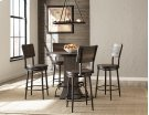 Jennings 5 Piece Round Counter Height Dining Set With Swivel Counter Stools - Distressed Walnut Wood Product Image