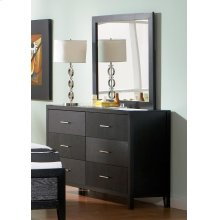 Grove Black Six-drawer Dresser