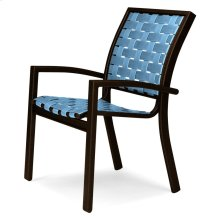 Kendall Contract Cross Strap Stacking Cafe Chair