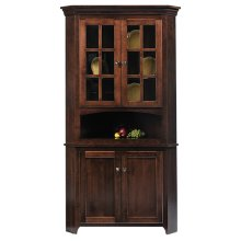 "30"" Lexington Shaker Corner Hutch"