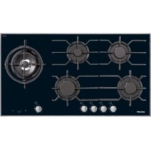 KM 3054 G Gas cooktop with electronic functions for maximum safety and user convenience.