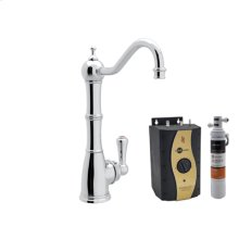 Polished Chrome Perrin & Rowe® Traditional Column Spout Hot Water Faucet, Tank And Filter Kit