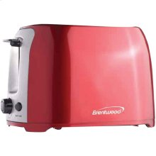 2-Slice Cool-Touch Toaster with Extra-Wide Slots (Red & Stainless Steel)