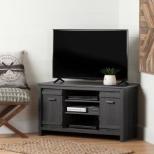 Corner TV Stand, for TVs up to 42'' - Gray Oak