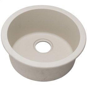 "Elkay Quartz Classic 18-1/8"" x 18-1/8"" x 7-1/2"", Single Bowl Dual Mount Bar Sink, Bisque"