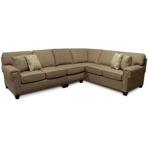 England FurnitureYonts Sectional with Nails 2Y00N-Sect