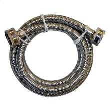 "3/4"" x 3/4"" FEM Hose x FEM Hose Flexible Stainless Steel Washing Machine Connector 60"" Length"