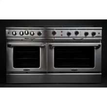 "60"" Gas Self Clean w/ Rotisserie, 6 Open Burners, 2 12"" Broil Burners"