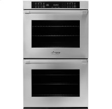 """30"""" Heritage Double Wall Oven in Black Glass - ships with Epicure Style black handle."""