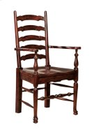 Ladderback Arm Chair w/ Wood Seat Product Image