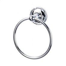 Edwardian Bath Ring Ribbon Backplate - Polished Chrome