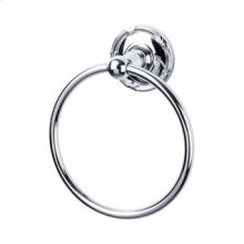 Edwardian Bath Ring Ribbon Backplate - Polished Chrome