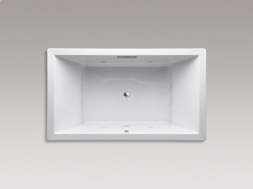 """Almond 72"""" X 42"""" Drop-in Whirlpool With Heater Without Jet Trim and With Center Drain"""