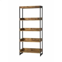 Estrella Industrial Antique Nutmeg Bookcase