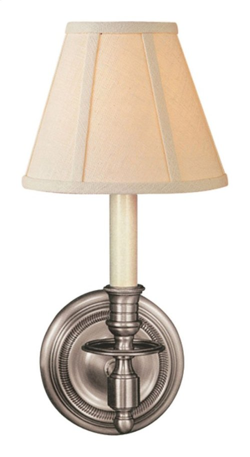 Visual Comfort S2110AN-L Studio French Library 1 Light 6 inch Antique Nickel Decorative Wall Light in Linen