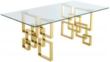 """Pierre Gold Dining Table - 78""""L x 39""""W x 30""""H"""