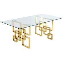 "Pierre Gold Dining Table - 78"" W x 39"" D x 30"" H"