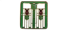 Prairie Tulips - Antique Brass/Spring Green