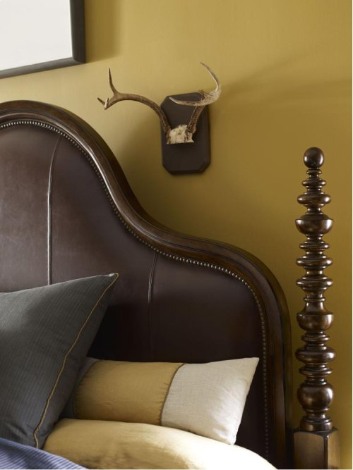 Ernest Hemingway® El Morro Upholstered Leather Panel Bed (Queen) (Maduro)