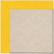 Creative Concepts-White Wicker Canvas Sunflower Ye Machine Tufted Rugs