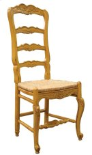 Country French Arm Chair with Rush Seat Product Image