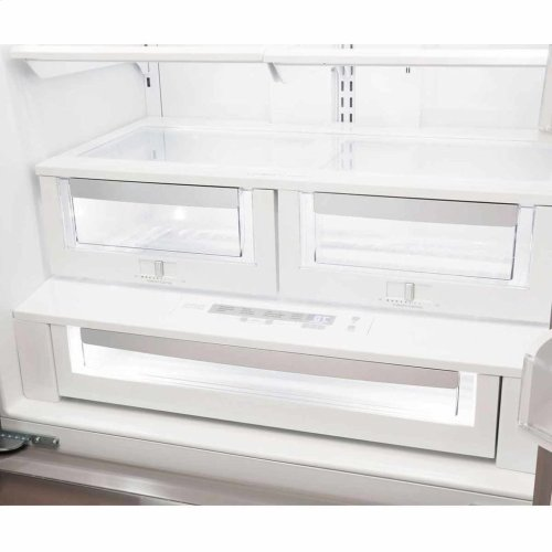 "Vintage White AGA Marvel Legacy 36"" French Door Counter Depth Refrigerator"
