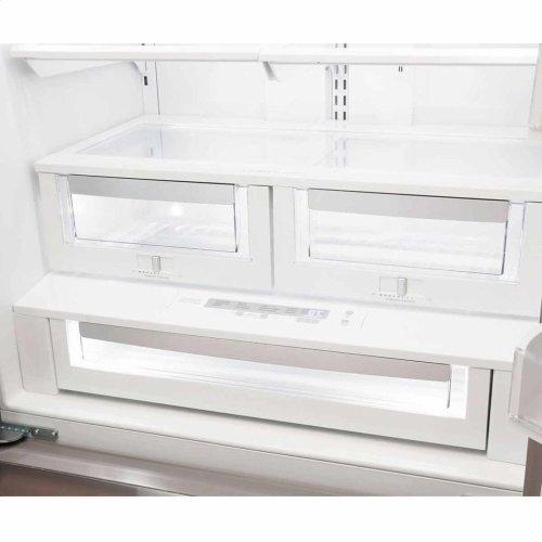 "Vintage White AGA Marvel Legacy 36"" French Door Counter Depth Refrigerator"