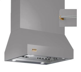"""66"""" Wide Island Hood, Brass Accessory Rail on front and back"""