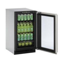 "18"" Glass Door Refrigerator Integrated Frame Left-Hand Hinge"